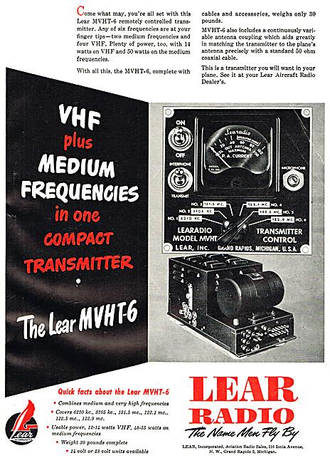 Lear MVHT-6 VHF / MF Radio