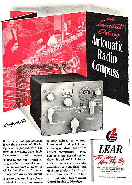 Lear Avionics - Lear ADF Radio Compass
