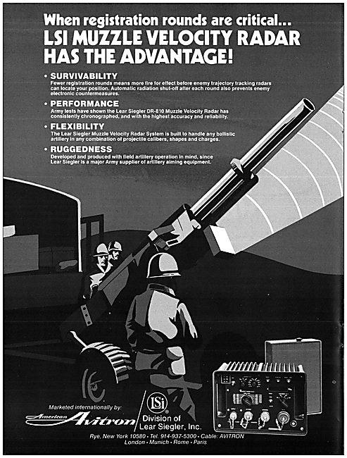 Lear Siegler American Avitron LSI MUzzle Velocity Radar