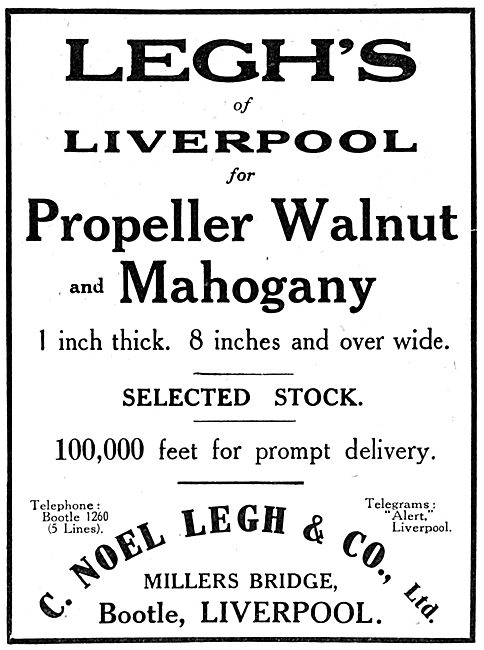 C.Noel Legh & Co. Timber Importers. Legh's Of Liverpool