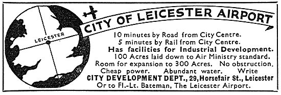 City Of Leicester Airport - Facilities