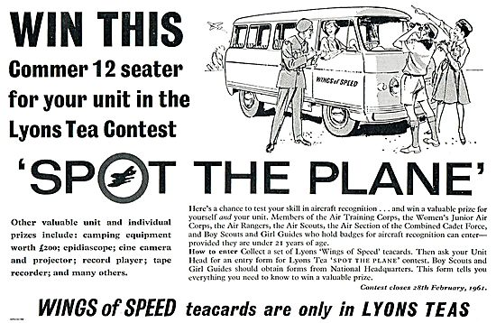 Lyons Spot The Plane Tea Cards Competition