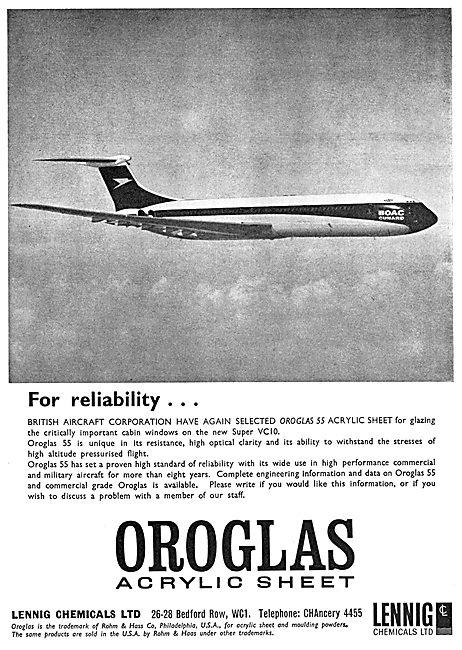 Lennig Chemicals. OROGLASS Acrylic Sheet