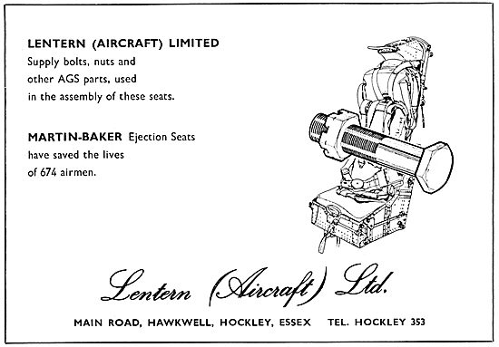 Lentern (Aircraft) Ltd. Essex. Suppliers Of Nuts, Bolts & AGS