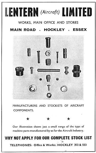Lentern Engineering. Main Road, Hockley, Essex.