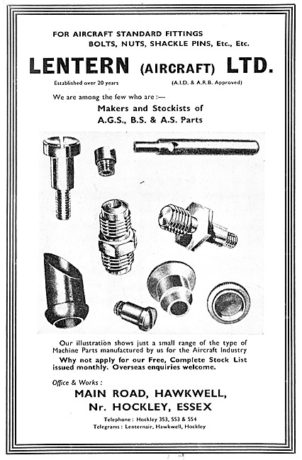 Lentern Fasteners & AGS Parts