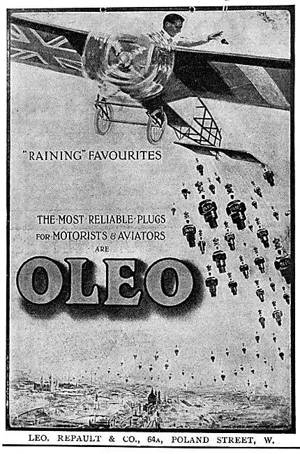 Leo Ripault - Oleo Sparking Plugs 1915