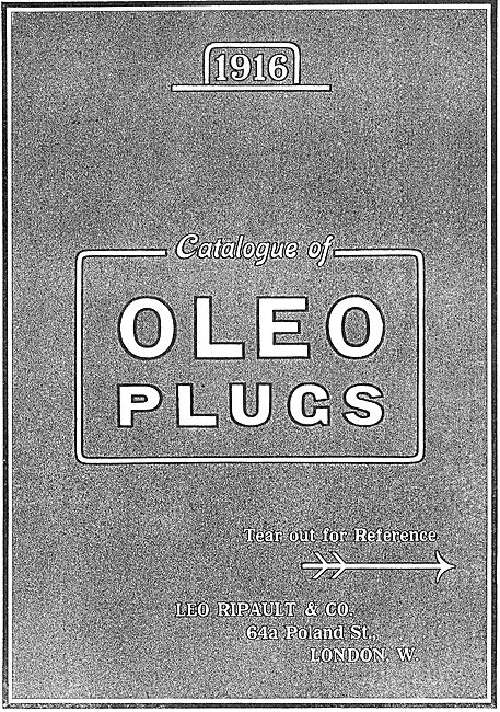 Oleo Spark Plugs Catalogue Cover 1
