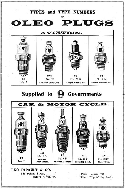 Oleo Spark Plugs Catalogue