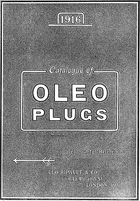 Oleo Spark Plugs Catalogue Cover 2