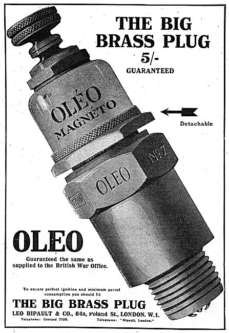 Oleo - The Big Brass Plug. As Supplied To The War Office
