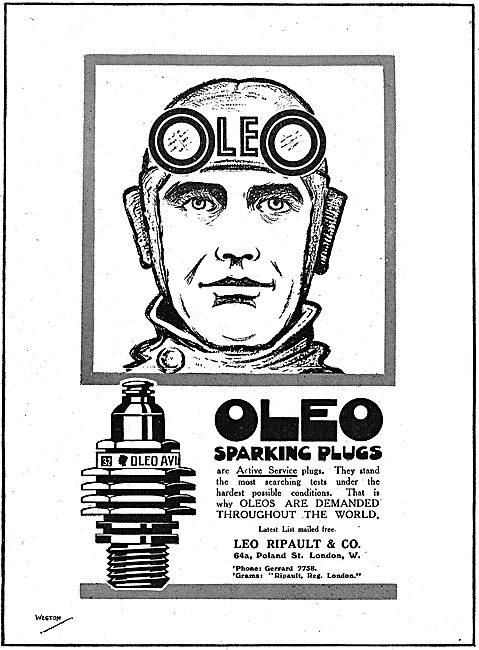 Oleo Aeroplane Sparking Plugs Are Active Service Plugs