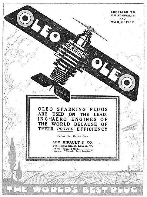 Oleo Aviastion Plugs Are Used On The Leading Aero Engines
