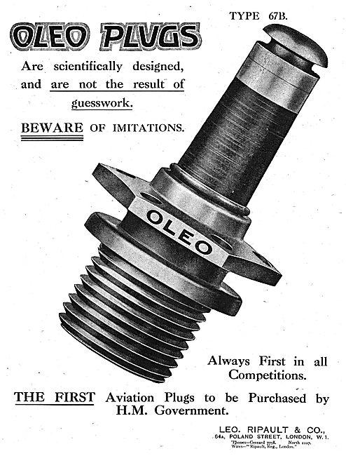 Ripault Oleo Aero Engine Sparking Plugs