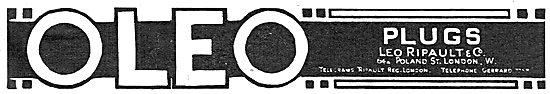Leo Ripault Oleo Aero Engine Sparking Plugs