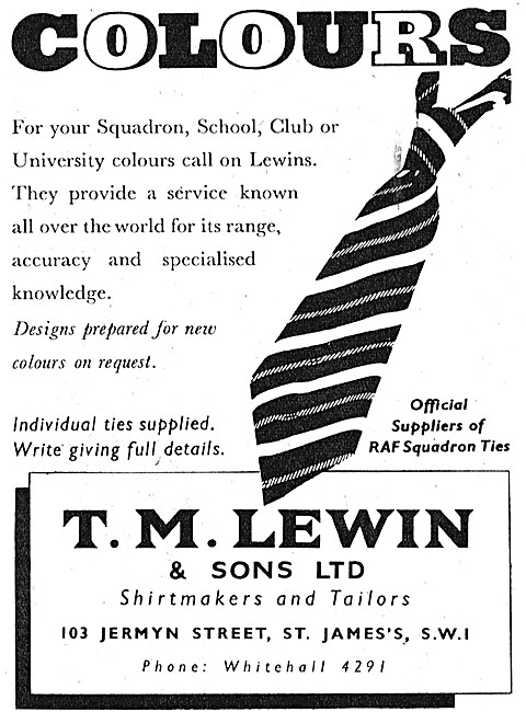 T.M.Lewin Shirtmakers & Tailors - Lewin Squadron Ties