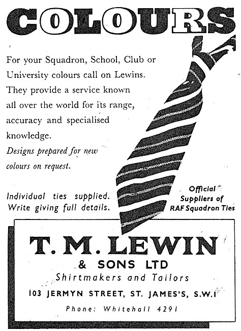 T.M.Lewin & Sons Service Tailors & Outfitters