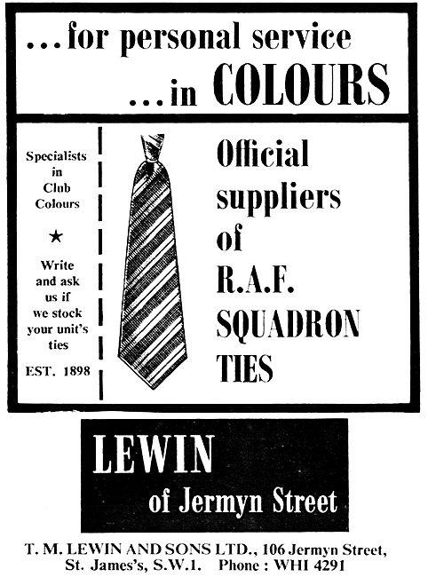 T.M.Lewin RAF Squadron Ties 1966