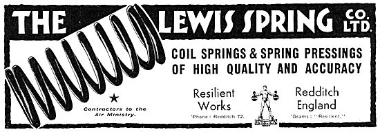 Lewis Spring Co. Redditch. Coil Springs
