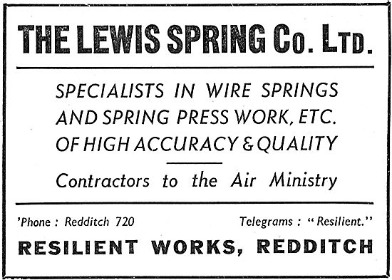 Lewis Spring Co. Redditch.