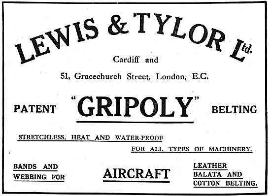 Lewis & Tylor Ltd. GRIPOLY Woven Machine Drive Belting