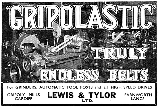 Lewis & Tylor Ltd. GRIPOLASTIC Machine Drive Belts