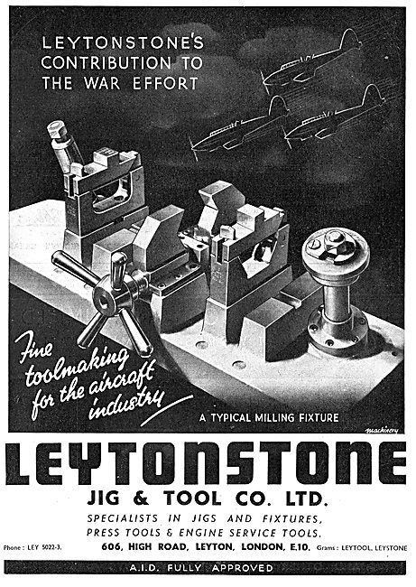 Leytonstone Jig & Tool Co : Machine Tools : Milling Fixtures