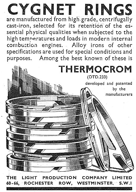 Light Production Co - Aero Engine Piston Rings