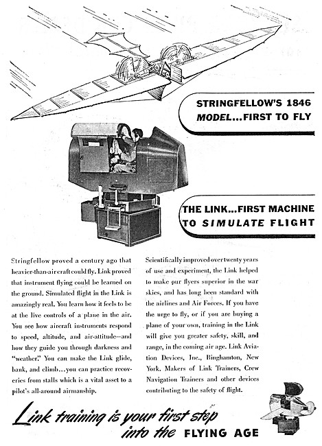 Link Trainer 1946 Advert