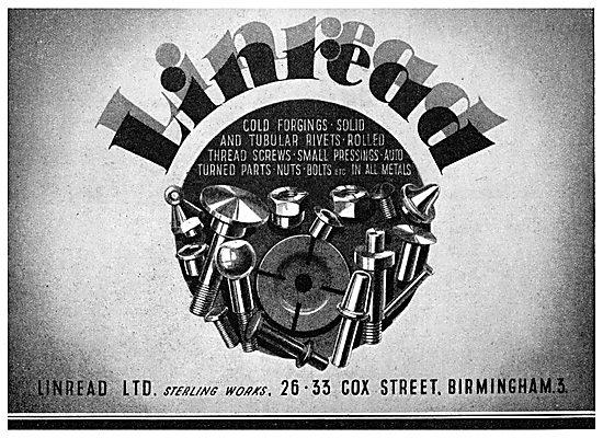Linread Ltd. Cox Street. Birmingham. Cold Forged & Turned Parts