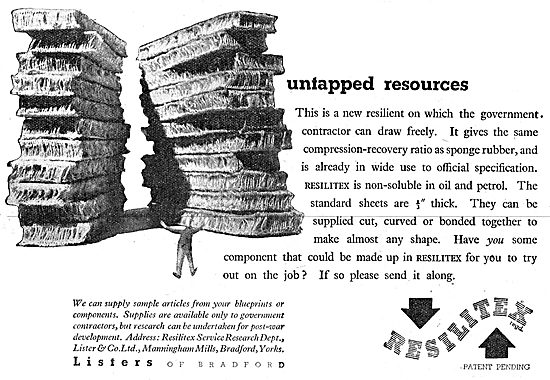 Listers Of Bradford Resilitex Rubber Substitute