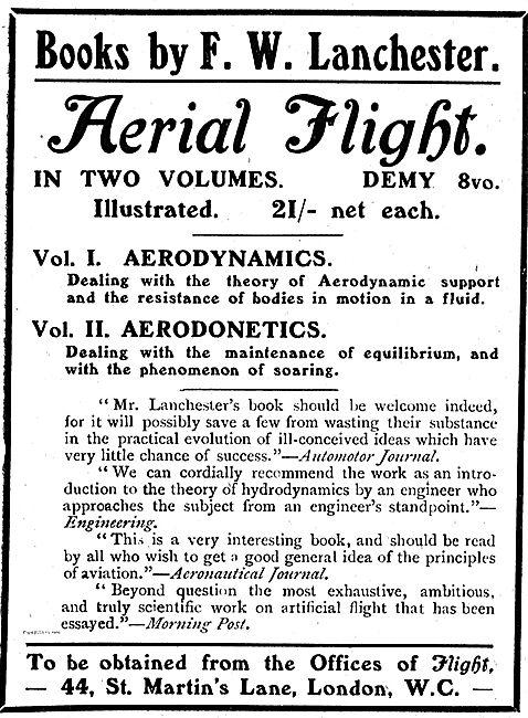 Aerial Flight - Aerodynamics & Aerodonetics By F.W. Lanchester