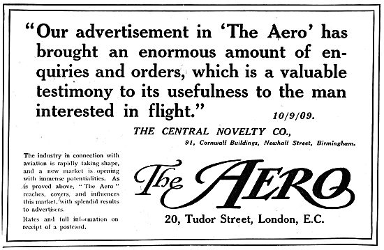 The Aero - Advertising Testimonial For The Central Novelty Co