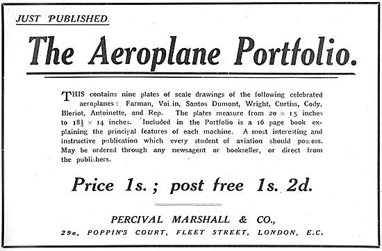 The Aeroplane Portfolio 16pp 1/2 Post Free