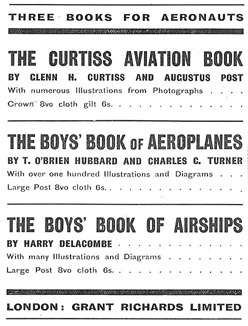 The Curtiss Aviation Book By Glenn H.Curtiss & Augustus Post