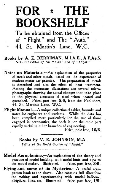 Notes On Materials By A.E.Berriman
