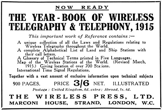 The Year Book Of Wireless Telegraphy & Telephony 1915