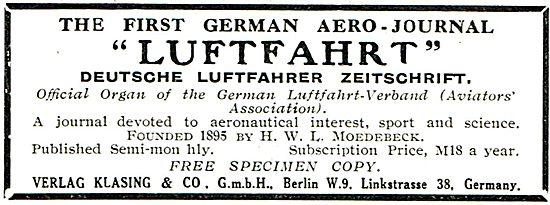 Luftfahrt the First German Aero-Journal