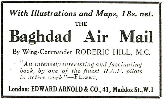 The Baghdad Air Mail By Wing Commander Roderic Hill M.C