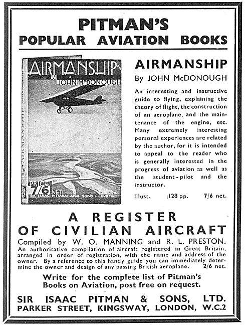 A Register Of Civilian Aircraft By W.O. Manning & R.L.Preston