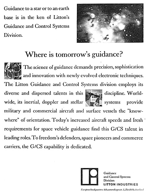 Litton Guidance & Control Systems 1964