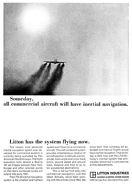 Litton Inertial Navigation - Litton INS 1967