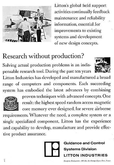 Litton Industries. Computers & Electronic Guidance & Control