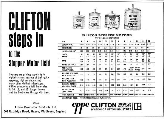 Clifton Stepper Motors