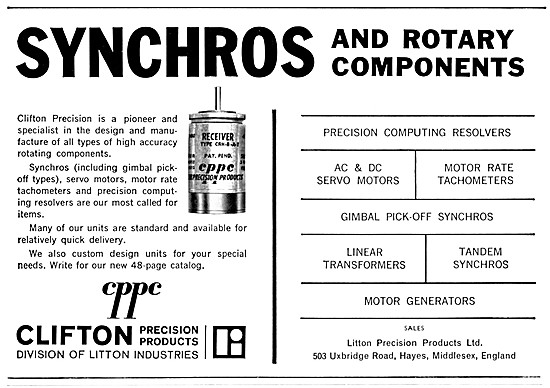 CPPC Clifton Precision Products. Synchros & Rotary Components