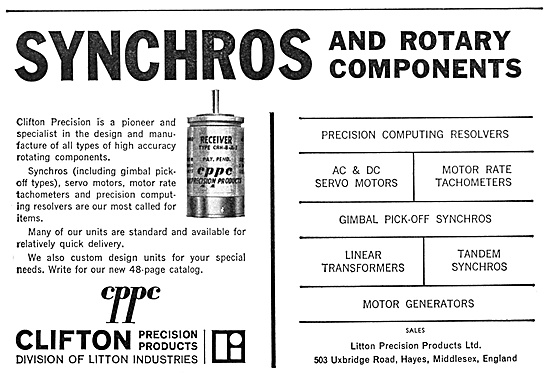 Litton Industries. Clifton Precision Products. Synchros & Control