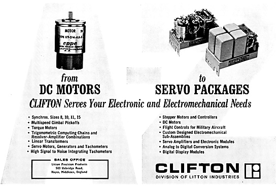 Litton Industries. Clifton Precision Products. Motors & Controls