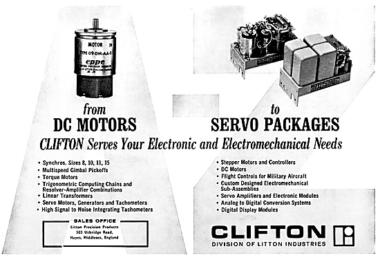 Litton Industries. Clifton DC Motors & Servo Equipment