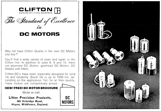 Litton Industries. Clifton DC Electric Motors & Servo Equipment
