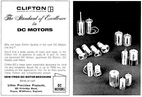 Litton Industries. Clifton DC Electric Motors & Servo Equipment